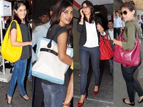 Priyanka, Asin love their bags
