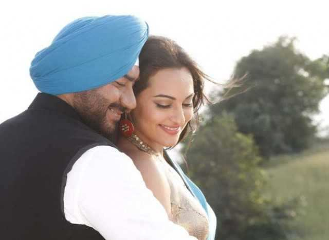 Ajay and Sonakshi