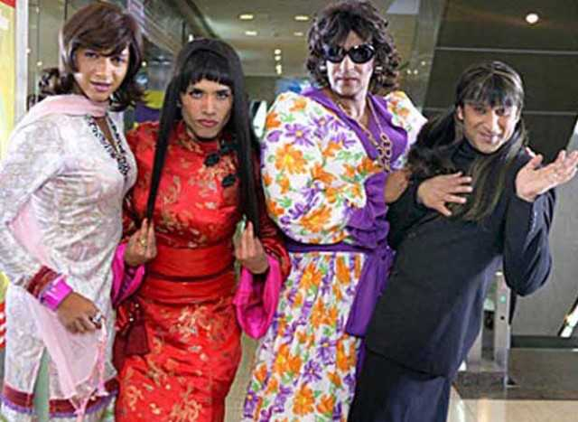 Ajay Devgn, Tusshar Kapoor, Shreyas Talpade