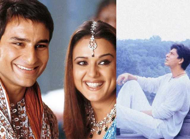 Saif Ali Khan, Preity Zinta and Shah Rukh Khan