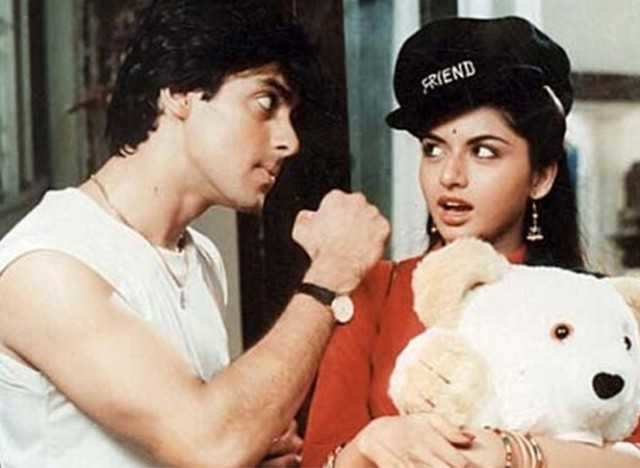 Salman Khan and Bhagyashree