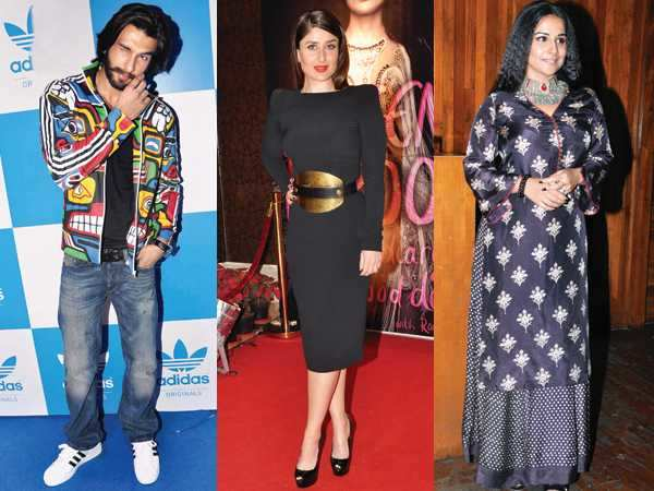 Kareena, Ranveer and Vidya's shocking style statements