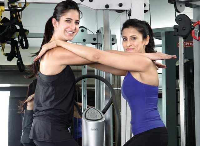 Katrina with her trainer, Yasmin Karachiwala