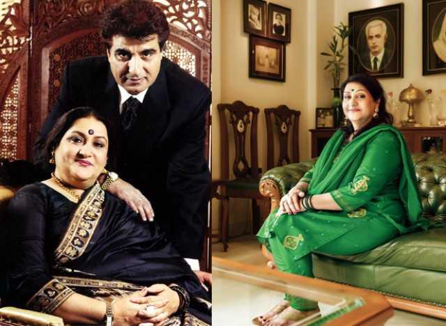 With Husband Raj Babbar