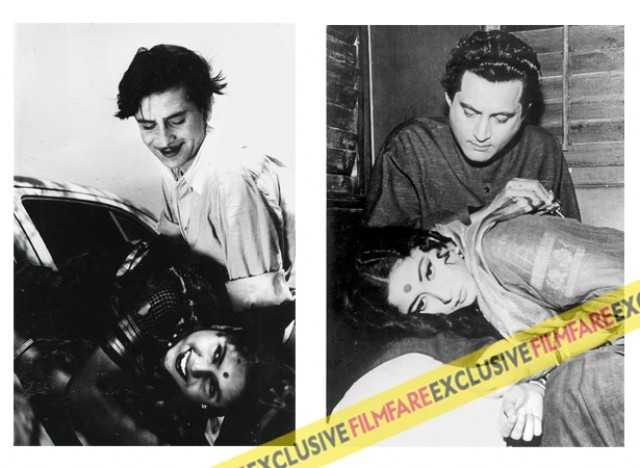 Raj Kapoor and Geeta Bali in Bawre Nain and Guru Dutt and Meena Kumari in Saheb Bibi Aur Ghulam