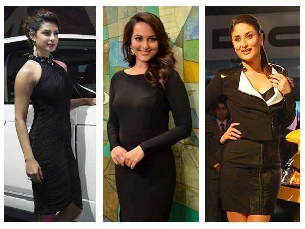 Priyanka, Sonakshi, Kareena: Women in black!