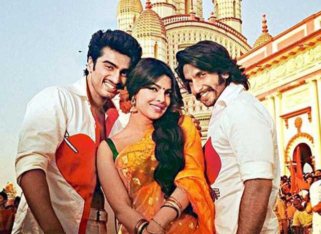 Ranveer with Priyanka and Arjun