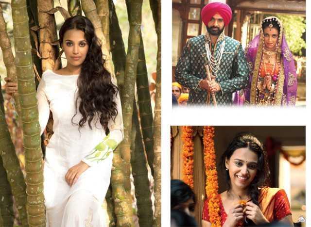 Swara Bhaskar in Tanu Weds Manu (on top) and in Raanjhanaa (bottom)