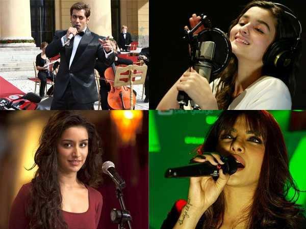 Salman, Alia & Priyanka turn singers