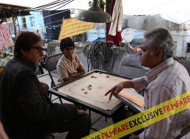 Amitabh Bachchan, Parth Bhalerao and Sanjay Mishra