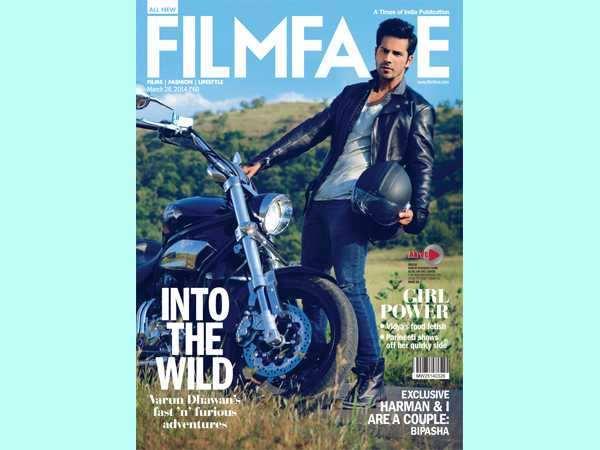 Varun Dhawan on Filmfare cover
