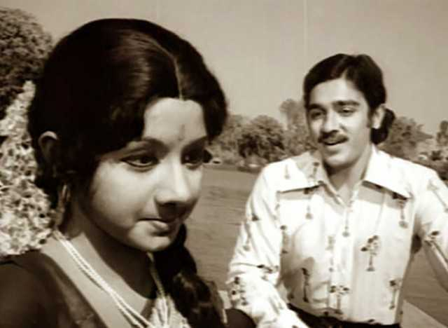 Sridevi and Kamal Hassan
