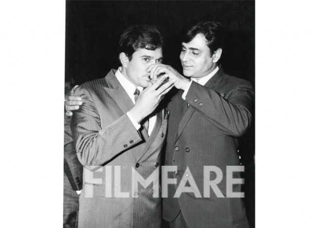 Rajesh with Rajendra Kumar