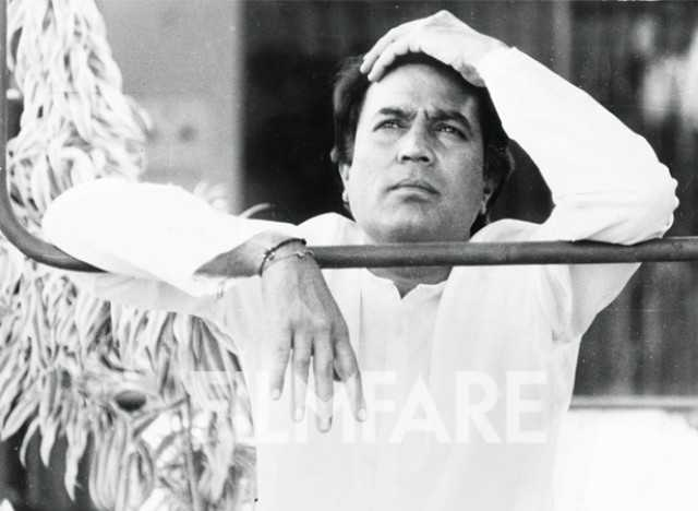 Rajesh Khanna caught in a pensive mood