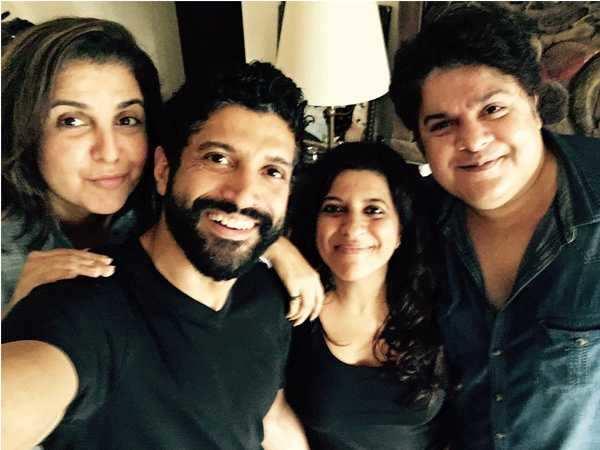 Farhan Akhtar, Zoya Akhtar, Sajid Khan and Farah Khan bond on Raksha Bandhan