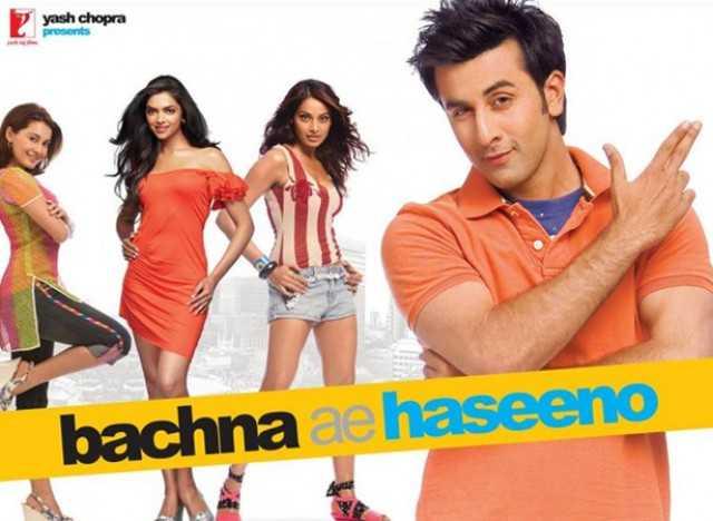Bachna Ae Haseeno (2008)   Director- Siddharth Anand   Cast- Ranbir Kapoor, Deepika Padukone, Bipasha Basu, Minisha Lamba, Kunal Kapoor    Release date - 15th August   Box-office - 62.5 crores worldwide