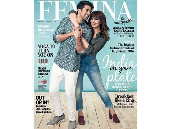 Huma Qureshi and Saqib Saleem spread sibling love with their latest Femina cover