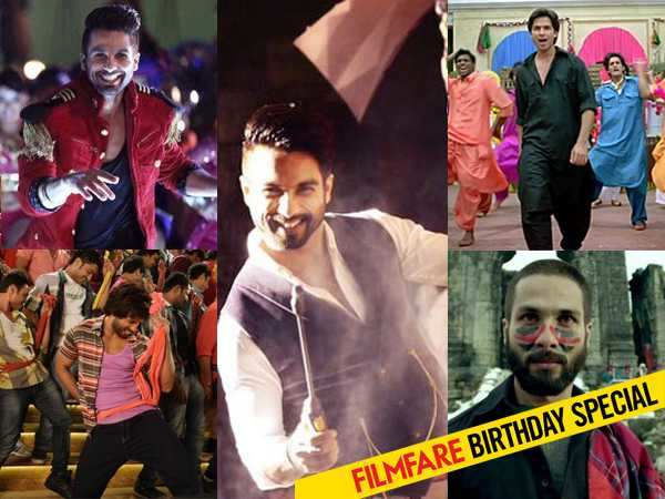 Shahid Kapoor's top 12 Dance Numbers