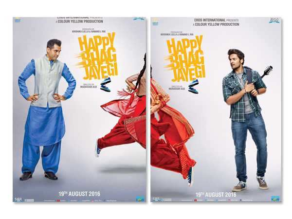 Here are the first posters of Happy Bhaag Jayegi