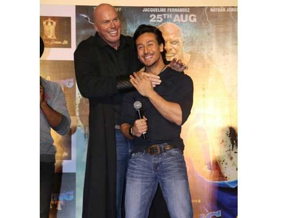 Nathan Jones with Tiger Shroff