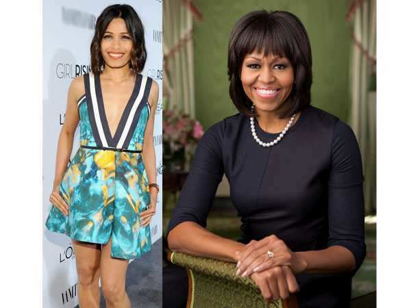 Freida Pinto joins hands with Michelle Obama