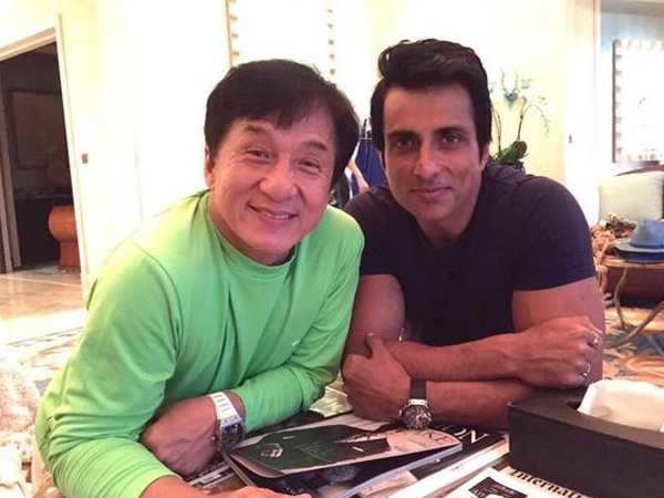 Jackie Chan does Bhangra with Sonu Sood
