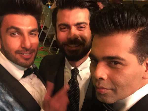 Ranveer Singh, Fawad Khan and Karan Johar make for one suave selfie together