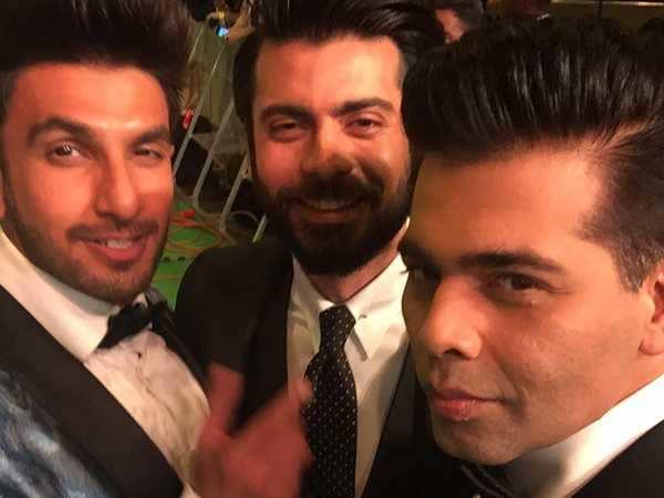 Ranveer Singh, Fawad Khan and Karan Johar make for one suave selfie together