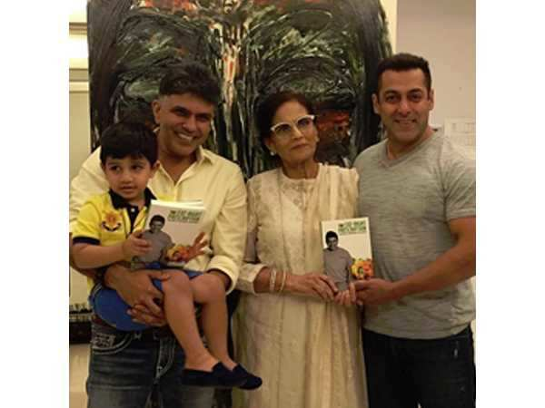Salman Khan launches a book along with mother Salma