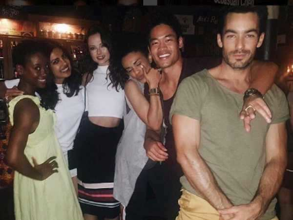 Priyanka Chopra has a hearty party with her Quantico team