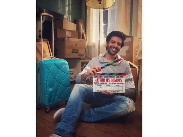 Kartik Aaryan shares a picture from the set of Atithii Iin London