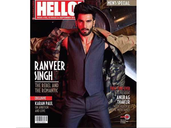 Presenting Ranveer Singh – the Rebel and the Romantic on Hello! India cover
