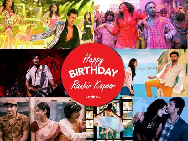 Ranbir Kapoor's top 15 songs