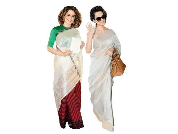 Quirky, conventional, vintage... Here are the 50 shades of  Kangana Ranaut's flawless saree game...