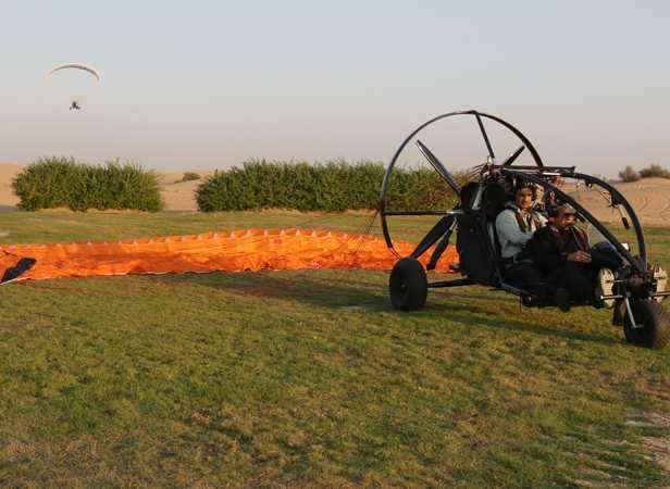 Sushant tries the Xcitor Trike Bike in Dubai