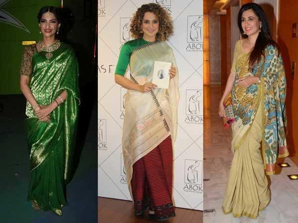 Bollywood actresses in handloom
