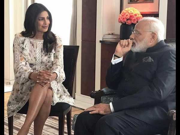 Narendra Modi's protocol officer had no problem with Priyanka Chopra's dress