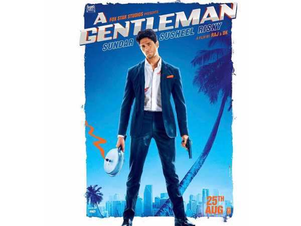 Sidharth Malhotra looks dapper as hell in A Gentleman's poster