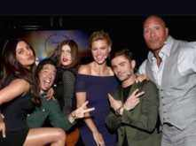 Priyanka Chopra, Zac Efron and Dwayne Johnson promote Baywatch at Cinemacon