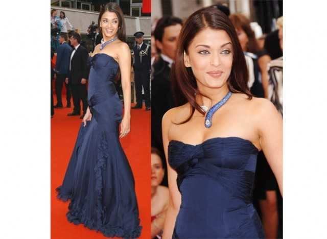 Aishwarya in blue Elie Saab gown