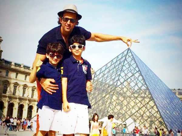 Hrithik Roshan Takes His Sons On Another Holiday Filmfarecom