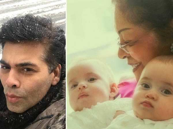 Cuteness Overload! Karan Johar shares the first picture of his twins Roohi and Yash!