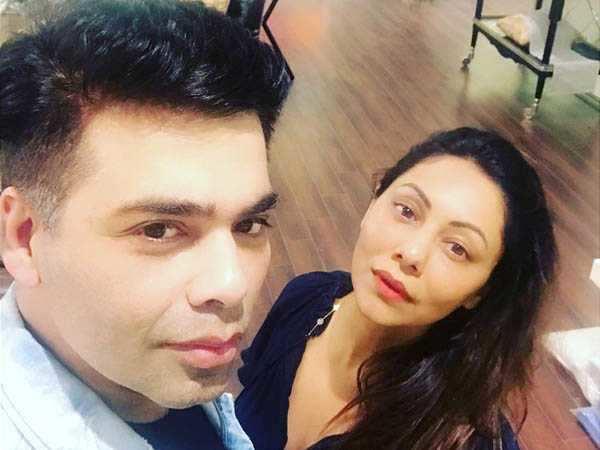 Karan Johar shares a stunning selfie with BFF Gauri Khan
