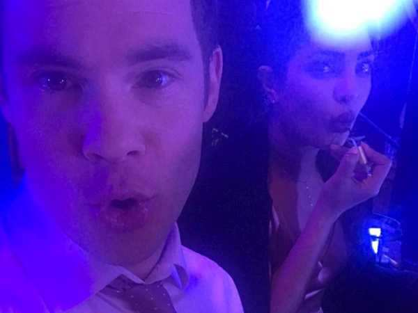Photo Alert: Priyanka Chopra pouts with Adam DeVine post Isn't It Romantic wrap up