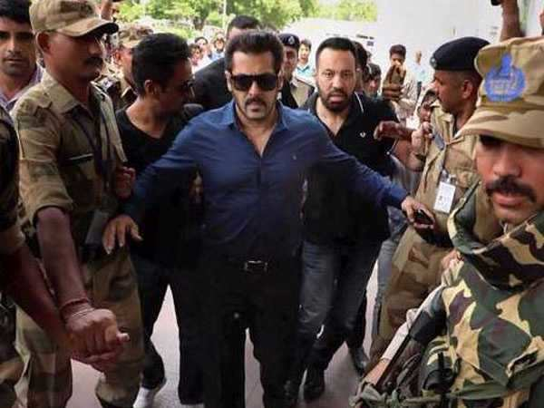 Salman Khan attends the hearing of the Arms Act Case in Jodhpur Court