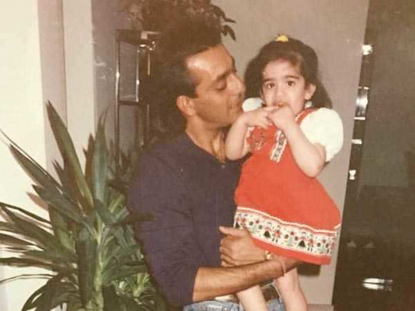 Aww! Sanjay Dutt's daughter Trishala shares a throwback picture with him