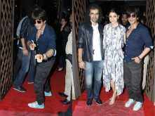 Shah Rukh Khan, Anushka Sharma and Imtiaz Ali have a mini celebration