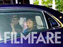 Rare sighting! Rani Mukerji arrives for family dinner with husband Aditya Chopra