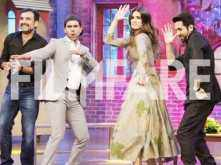 Ayushmann Khuranna, Kriti Sanon and Rajkumarr Rao promote Bareilly Ki Barfi on the sets of a TV show