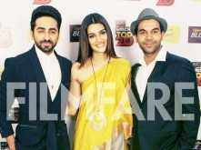 Ayushmann Khurranna, Kriti Sanon and Rajkummar Rao promote Bareilly Ki Barfi at a radio station